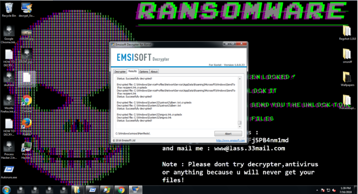 Emsisoft Decrypter - How to Perform Manual Ransomware Removal