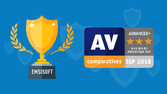 Emsisoft Anti-Malware receives Advanced+ Award in latest AV-Comparatives test
