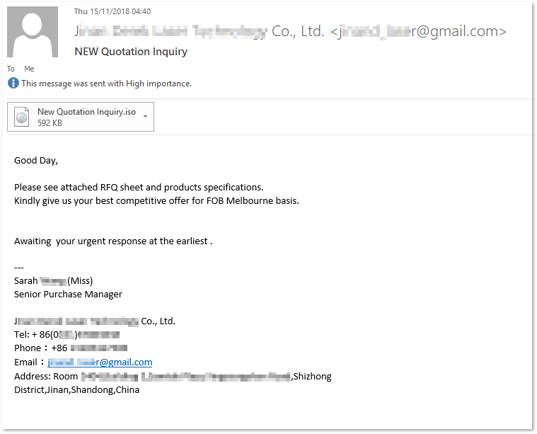 Beware: New wave of malware spreads via ISO file email