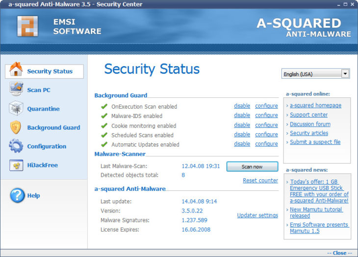 Emsisoft A-Squared Anti-Malware 3.5
