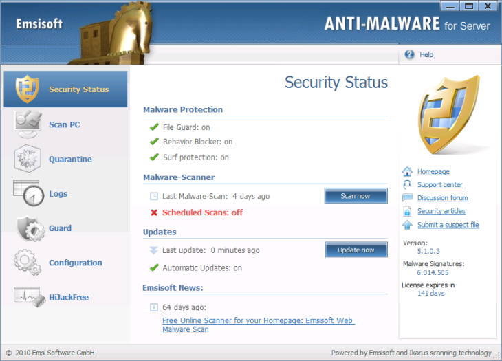 Original Emsisoft Anti-Malware for Server