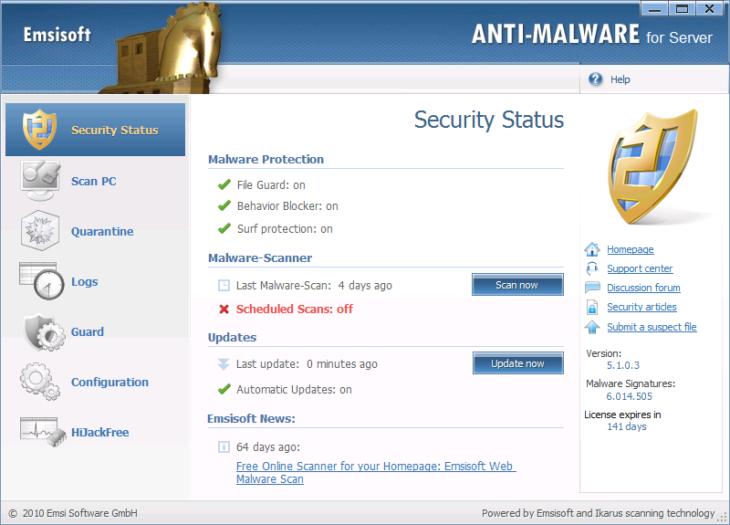 Original Emsisoft Anti-Malware para Servidor