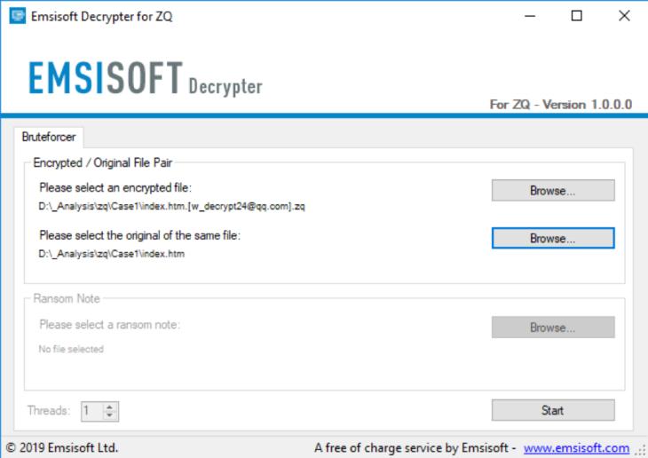 Emsisoft ZQ Decrypter