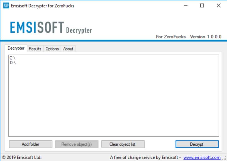 Emsisoft ZeroFucks Decryptor