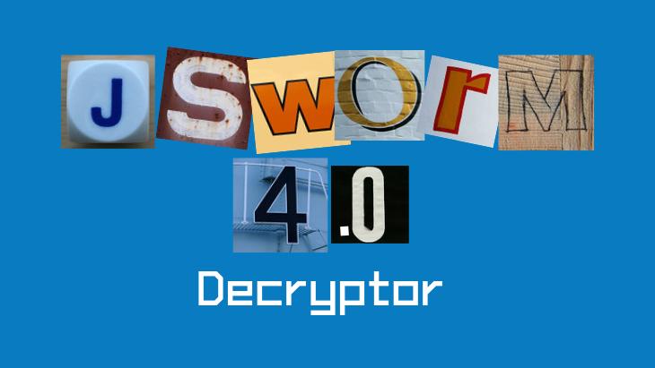 JSWorm 4.0 Decryptor