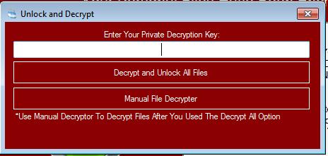 """GalactiCyrpter - When you press the """"Unlock Files"""" button"""