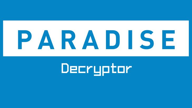 Paradise Decryptor by Emsisoft