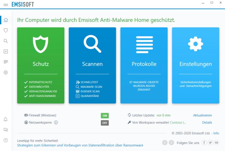 """Der neue """"Internetschutz"""" in Emsisoft"""