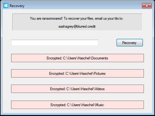 Ransomwared unlock code UI